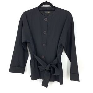 Fendi Sz 42 US 4-6 Belted Jacket Black Uniform?